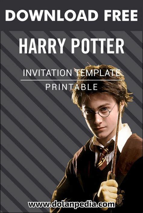 printable harry potter birthday party invitation