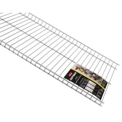 rubbermaid 48 in l x 16 in d fasttrack garage wire shelf