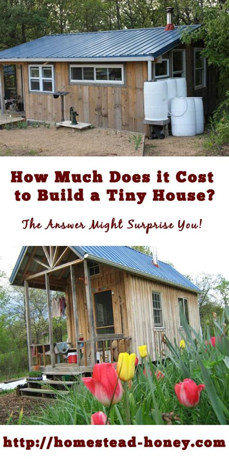 how much does it cost to build a garage how much does it cost to build a tiny house homestead honey