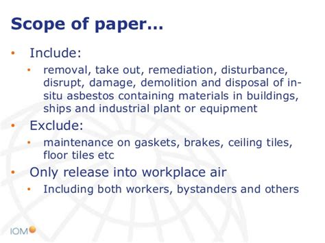asbestos exposure  asbestos insulation removal work
