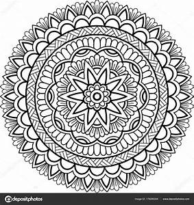 Abbildung Mandala Zum Ausmalen Stockvektor TAMSAMTAM