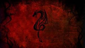 HD Background Red Dragon Art Patterns Design Wallpaper WallpapersByte