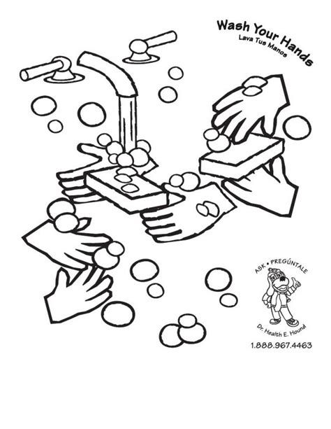 Hand Washing For Kids Coloring Pages 24171