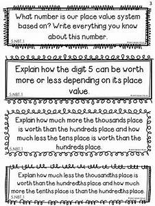 Place Value Math Journal Prompts 5th Grade Distance
