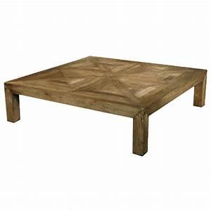 birkby rustic lodge natural elm parquet square coffee table With natural wood square coffee table