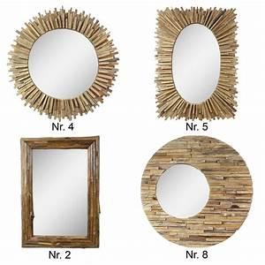 Spiegel Holz Rund : gro er spiegel rahmen aus holzst cken massiv holzrahmen wandspiegel rund eckig ebay ~ Whattoseeinmadrid.com Haus und Dekorationen