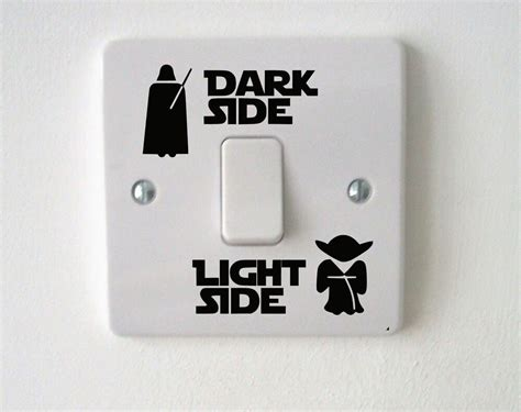 wars light side switch vinyl decal sticker child room lightswitch wall ebay
