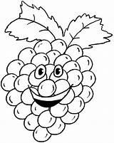 Grapes Coloring Grape Pages Printable Humanoid Happy Fruit Colouring Cluster Cartoon Sheets Fruits Coloringpages101 Cartoons sketch template