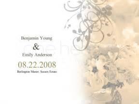 wedding slideshow flower wedding powerpoint slide 1