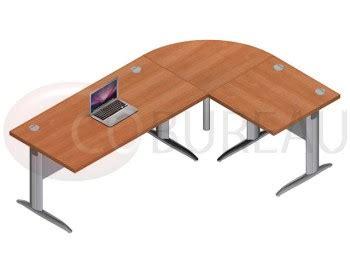 pro bureau ensemble bureau 160 cm pro métal avec angle de liaison 90