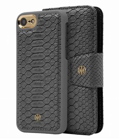 Magnetic Wallet Reptile Grey Iphone Ash Case