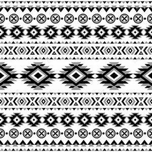 Mayan Pattern Black And White