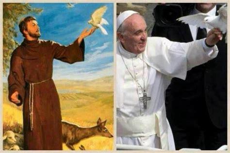 fran 231 ois d assise pape fran 231 ois et colombes