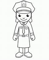 Police Coloring Pages Officer Policeman Printable Woman Cartoon Officers Clipart Community Cliparts Crafts Helpers Library Drawing Colouring Army Sheets Drawings sketch template
