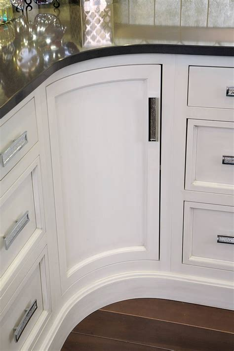 Curved Cupboard Doors - custom curved cabinet door white cabinetry