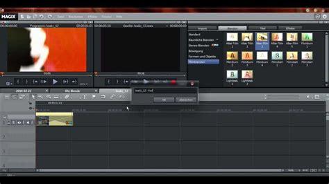 magix video pro  eigene filmblende erstellen das