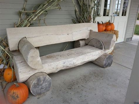 Log Bench  Midwest ♥ Country  Pinterest  Bancs, Banc
