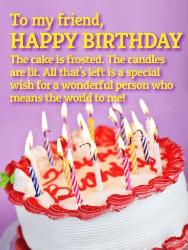 sentimental birthday card   special friend