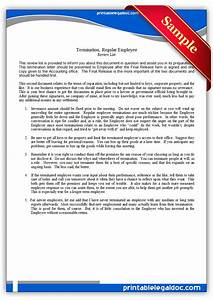 Free Sample Letter Of Termination Of Employment Contract Free Printable Termination Regular Employee Form Generic