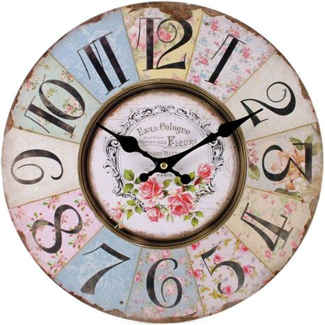 shabby chic kitchen clocks large vintage rustic wall clocks shabby chic kitchen home french farmhouse beach ebay