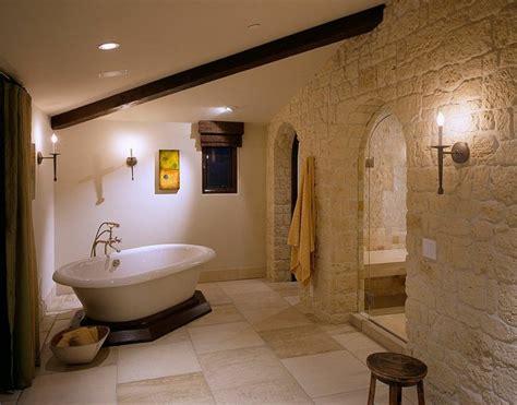 parement pierre salle de bain  exemples magnifiques