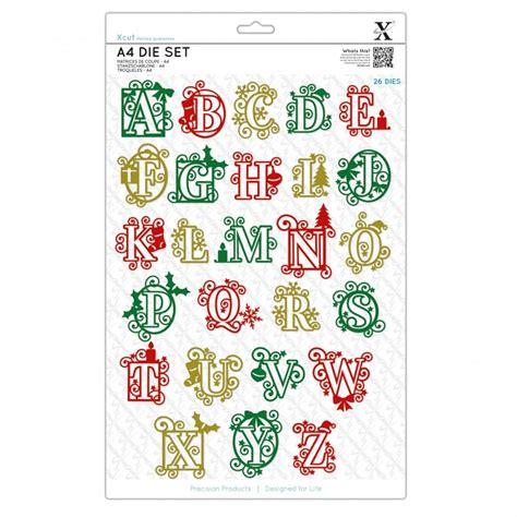 christmas alphabet  dies craftyartscouk