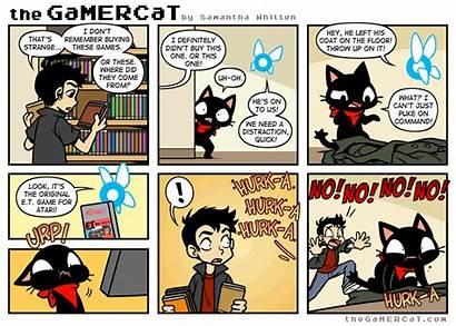 Gamercat Comics Sunday Cat Gamer Close Call