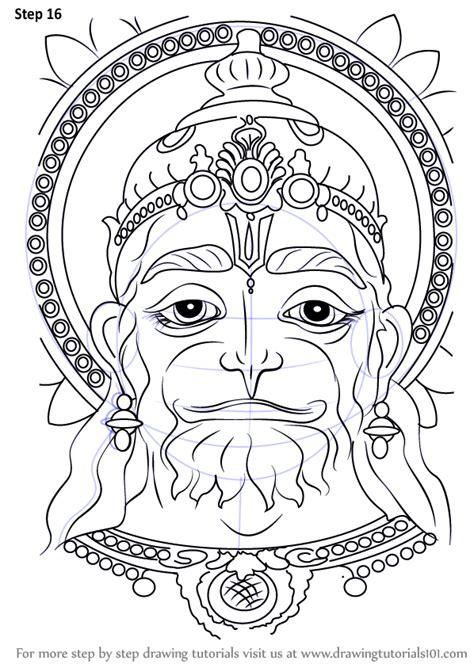 step  step   draw hanuman face