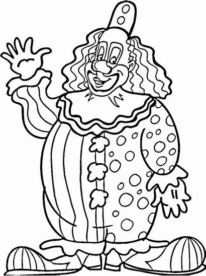 Clown Coloring Pages Ausmalbilder Printable Drawing Zum