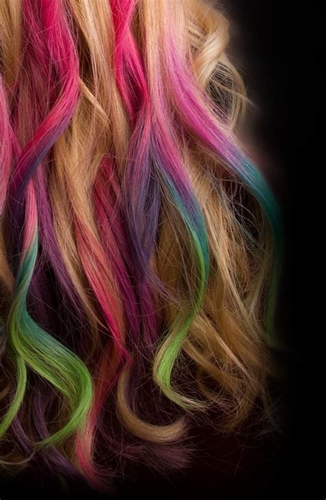 multi color hair dye dip dye hair bachelorette lifestyle