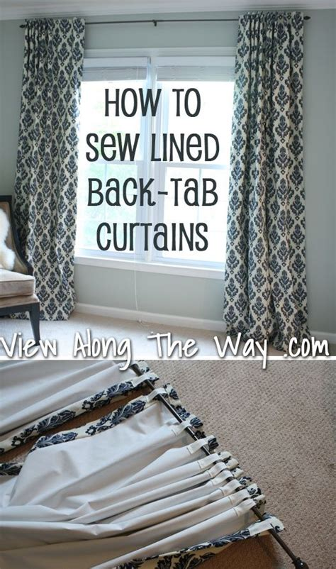 How To Make Drapes With Lining - how to sew lined back tab curtains sewing