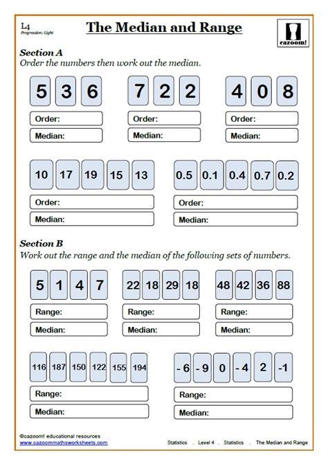 ks3 maths median mode worksheets median mode range worksheet estimate of the