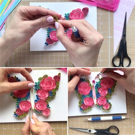 quilled butterfly tutorial patterns how to make