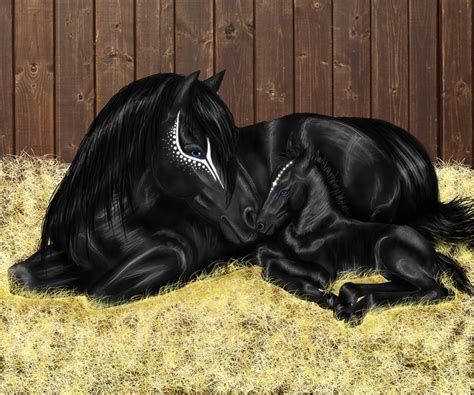 foal newborn deviantart horse horses eyes demon