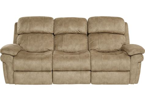 Microfiber Reclining Sofa And Loveseat by Glendale Camel Power Reclining Sofa Reclining Sofas Brown