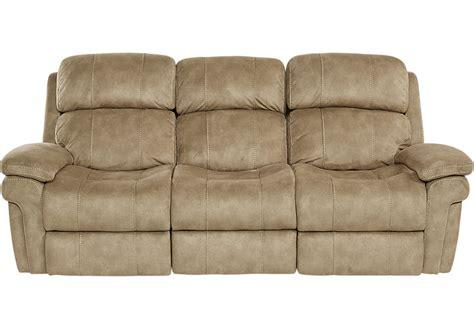 Glendale Camel Power Reclining Sofa - Reclining Sofas (Brown