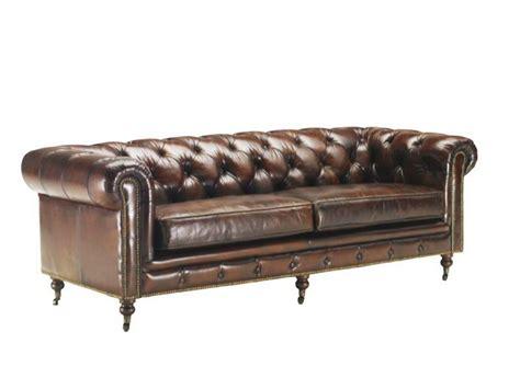 canapé cuir style anglais canapé vintage 3 4 places en cuir vieilli chesterfield