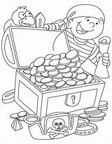 Pirate Treasure Coloring Chest Sheets Printable Ship Clipart Got Sunken Preschool Ruler Colouring Pirates Drawing Bestcoloringpages Getcolorings Template Mermaid Popular sketch template