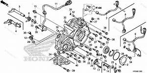 Honda Atv 2014 Oem Parts Diagram For Rear Crankcase Cover