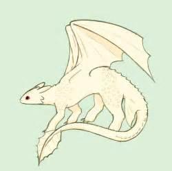 Albino Night Fury Dragon