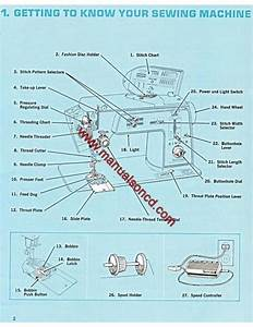 Singer 645 Sewing Machine Instruction Manual Touch  U0026 Sew