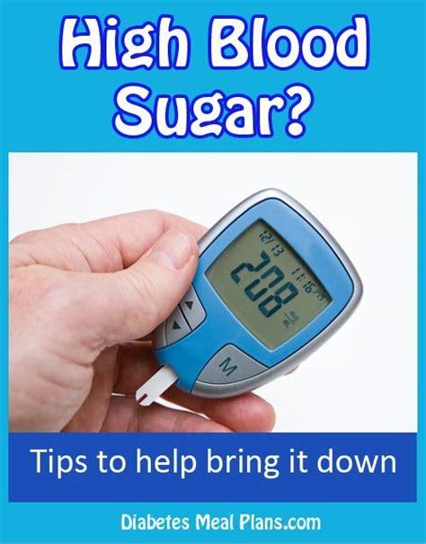 high blood sugar levels tips   bring
