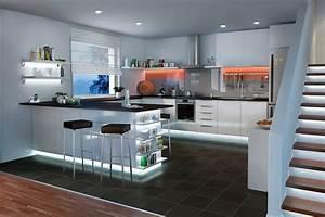 Kleine Led Leuchten : k chenbeleuchtung funktional und stimmungsvoll paulmann licht ~ Markanthonyermac.com Haus und Dekorationen