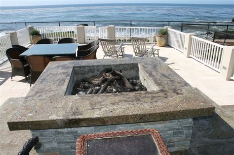 Ocean Front Patio & Concrete Fire Pit Lighting Fixtures Bathroom Landscape Images Light Extractor Fan Vintage Kitchen Down Lights Orlando Outdoor Landscaping Wall