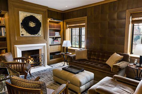 regal leather walls  put wallpaper  shame