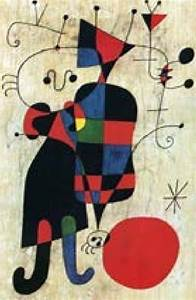 U0026 39 Figures And Dog In Front Of The Sun U0026 39   1949  By Joan Miro
