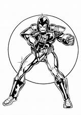 Iron Man Coloring Pages Kleurplaten Ironman Printable Print Kleurplaat Fun sketch template