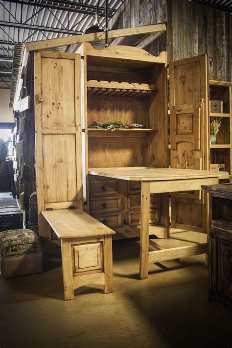 chuck wagon armoire  fold  table  benches