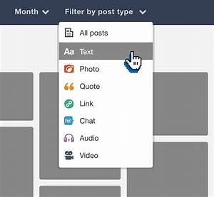 Tumblr Staff — Now you can filter by post type in the ...