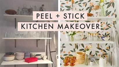Peel Stick Kitchen Makeover Rental Cabinets Gave
